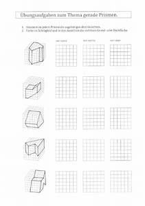 Prismen Berechnen 8 Klasse : aufriss zeichnen gerade prismen vom raumbild zum aufriss grundriss und seitenriss ~ Themetempest.com Abrechnung