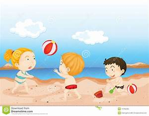 Playing At The Beach Clipart - Clipart Suggest