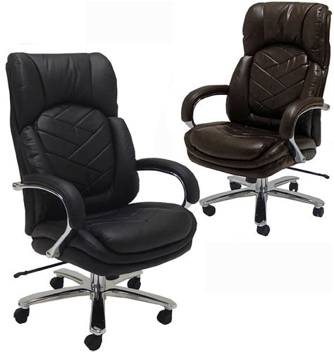 500 lbs capacity leather executive big chair
