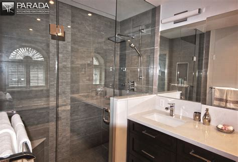 Renovation Kitchen Ideas - traditional bathroom renovation project in toronto with custom cabinets