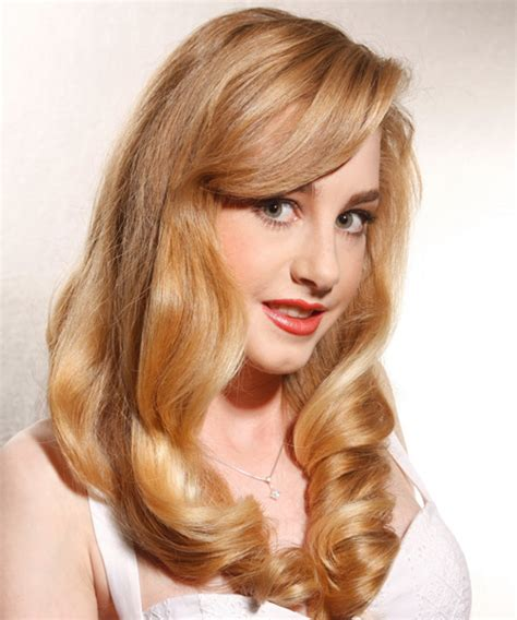 Honey Hairstyles by Wavy Formal Hairstyle Honey Hair Color