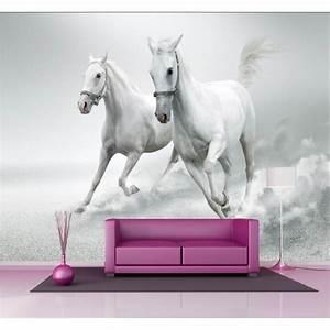 Papier Peint Geant : papier peint g ant d co chevaux blanc 250x360cm art d co ~ Premium-room.com Idées de Décoration
