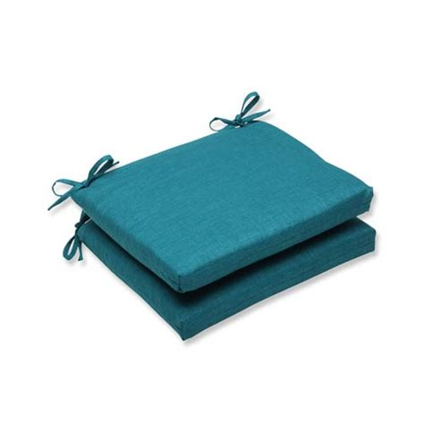 teal green outdoor squared corner seat cushion set