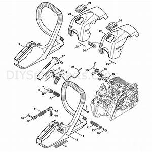 Stihl Ms 211 Chainsaw  Ms211  Parts Diagram  Handle Frame
