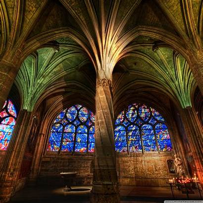 Interior Gothic Cathedral