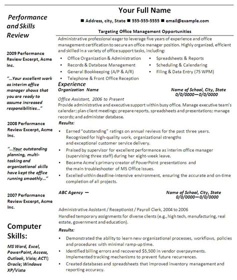 best photos of office resume templates resume templates