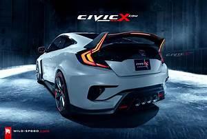 Civic 10 Type R : 2017 2018 civic type r coupe concept envisioned 2016 honda civic forum 10th gen type r ~ Medecine-chirurgie-esthetiques.com Avis de Voitures