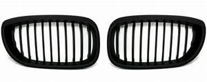 Calandre Bmw E46 : 2 grille de calandre noir mat bmw e46 serie 3 coupe facelift de 04 03 a 2006 adtuning france ~ Medecine-chirurgie-esthetiques.com Avis de Voitures