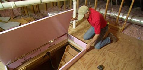 Shower Door Molding by Diy Fold Down Attic Stair Insulation Today S Homeowner