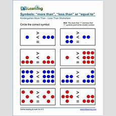"Free Preschool & Kindergarten ""more Than  Less Than"" Worksheets  K5 Learning"