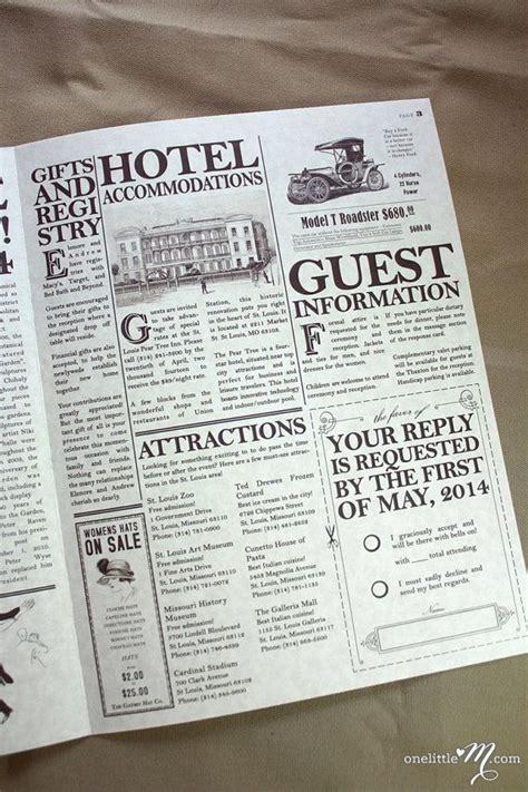 daily proposal vintage newspaper invitation