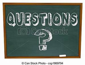 Dibujos de pregunta, palabra, pizarra, marca The, palabra, Questions, csp1869794 Buscar