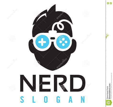 Nerd Gaming Logo Stock Vector Illustration Of Designer