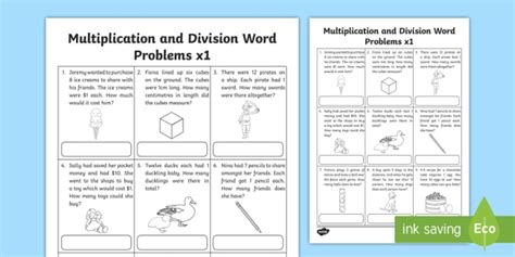 division worksheets twinkl australia multiplication and division word problems x1 worksheet