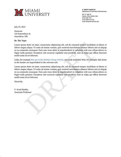 letterhead  recommendation letter