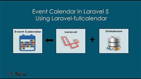 event calendar laravel laravel fullcalendar