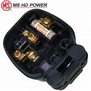 Ms Hd Power Ms328g 13a Uk Mains Plug  Gold Plated