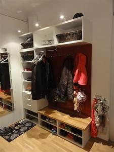 Ikea Kallax Flur : novh eine tolle idee f r eine garderobe ikea hack using besta faktum abstrakt high gloss ~ Markanthonyermac.com Haus und Dekorationen