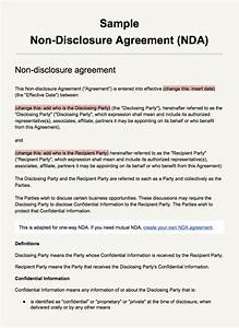 sample non disclosure agreement template everynda With letter of confidentiality and nondisclosure template