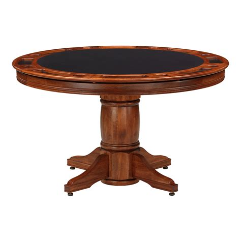 round poker table with dining algonquin poker dining game table maple darafeev