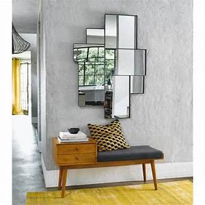 banquette d39entree vintage 2 tiroirs en manguier l120cm With tapis de couloir avec canapé bz maison du monde