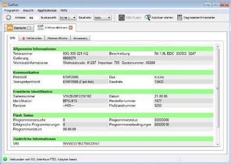 vw diagnose software autodia k509 mit carport software vollversion basis modul kkl can usb diagnose interface vw