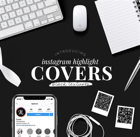 Tips for creating good instagram highlight covers as instagram highlights are showcased right at the top of your profile, it is important to select. Instagram Highlight Covers | Black Textures