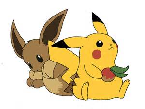 Pikachu and Eevee Love