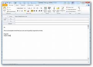 How to create and use templates in outlook 2010 for How to create an email template in outlook 2010