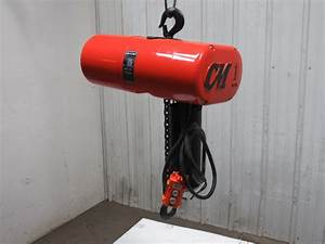 Cm Loadstar Model L 1 Ton 1hp Electric Chain Hoist 230  460v 3ph 9 U0026 39  Lift 16fpm