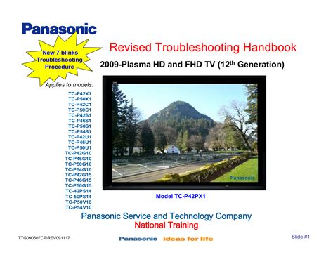 Download Free Pdf For Panasonic Viera Tc-p50s1 Tv Manual