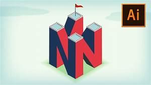 4d Letter Logo  Illustration In Adobe Illustrator