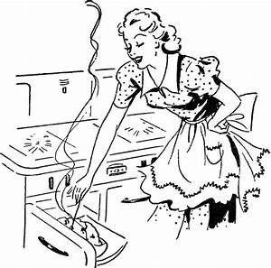 Adorable Retro Cooking Mom Image! - The Graphics Fairy