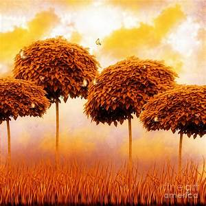 Tangerine Trees And Marmalade Skies Painting by Mo T
