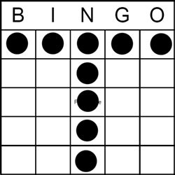 bingo game pattern letter