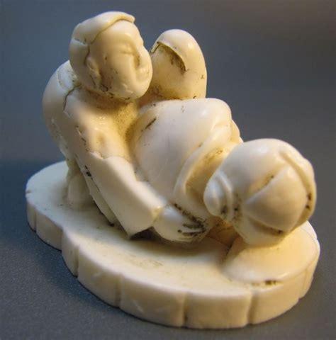 antikes erotisches netsuke liebespaar beim akt
