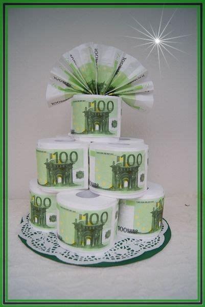 toilettenpapier torte geldtorte  euro serviette