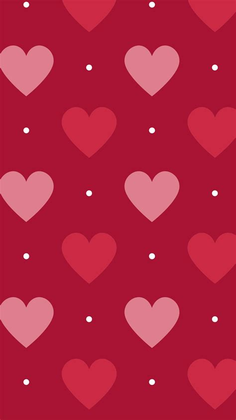 Red watercolour heart iphone background wallpaper phone lock screen. Colorful Hearts Wallpaper (66+ images)