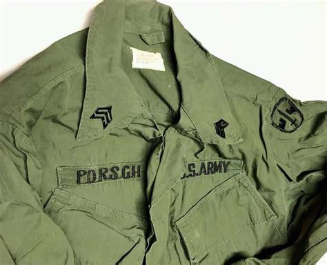 army vietnam war poplin jungle jacket patched macv