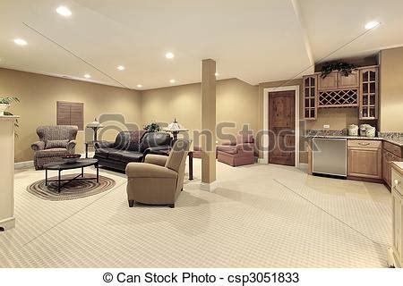 cuisine en sous sol photos de sous sol cuisine secteur lower niveau basment à csp3051833 recherchez des