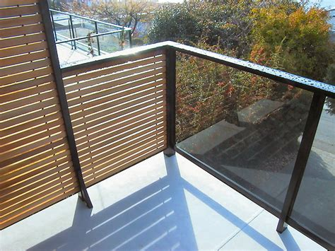 Horizontal Deck Railing Plans by Dek Rail Horizontal Cedar Slat Privacy Deck Railing Panels