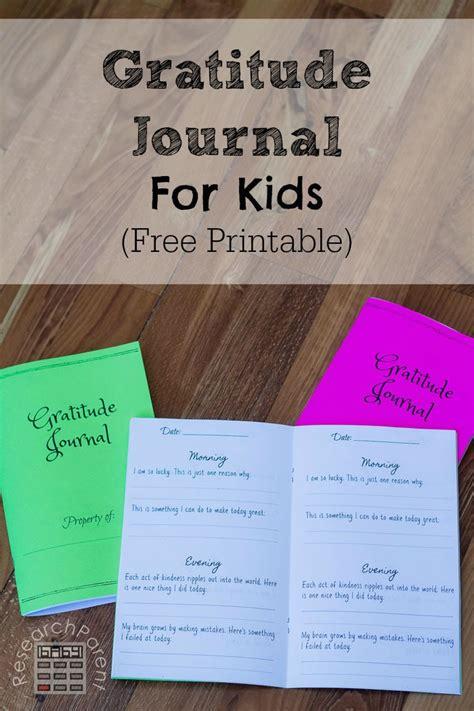 printable gratitude journal  kids money saving mom