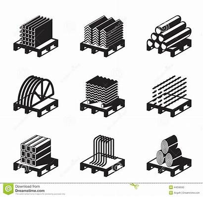 Materials Raw Building Clipart Metal Icon Vector