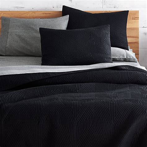 Black Coverlet by Triangle Black Bedding Cb2