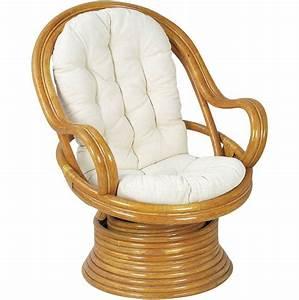 Coussin Fauteuil Rotin : fauteuil pivotant et basculant en rotin avec coussins ~ Preciouscoupons.com Idées de Décoration