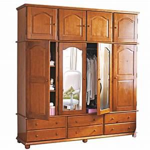 Armoire 4 Portes : armoire 4 portes 6 tiroirs miroirs surmeuble marsac miel anniversaire 40 ans acheter ~ Teatrodelosmanantiales.com Idées de Décoration