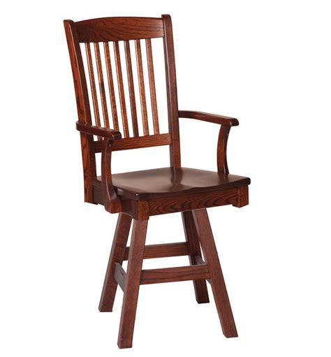 tempo wood swivel arm bar stool 242bb dining chairs