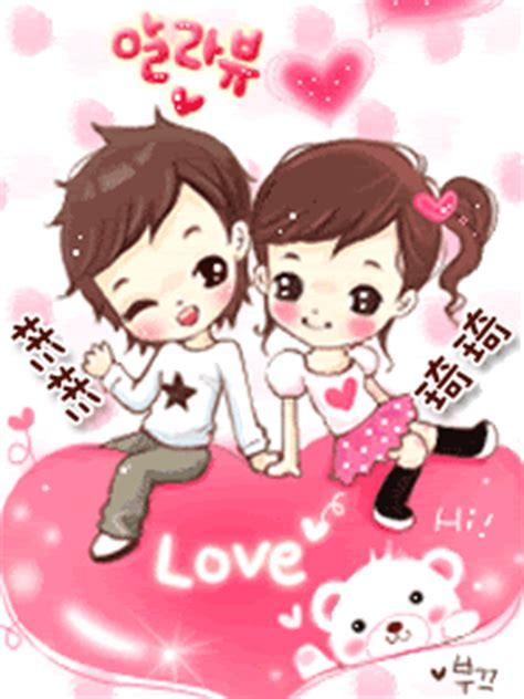 anime korean couple korean couple cartoon shinrise land