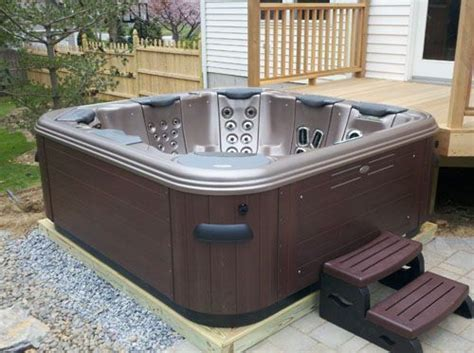 the magic of a portable spa patio or spa deck tub