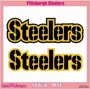 pittsburgh steelers wordmark design with your silhouette With pittsburgh steelers letters